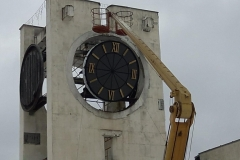 The clock setting on the Central Square
