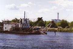 Речной причал в Припяти