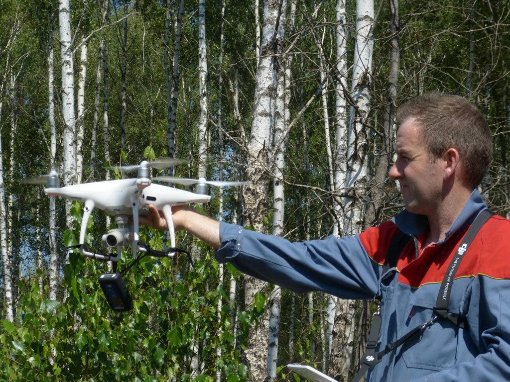 Використання дрону для опису дослідної ділянки/Using a drone to describe a research site
