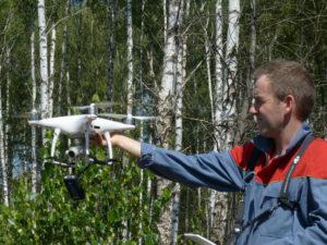 Использование дрона для описания исследовательского участка