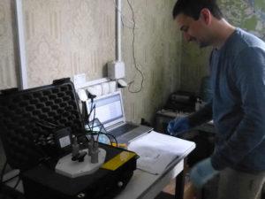 Тестирование нового спектрометра в реальных чернобыльских условиях