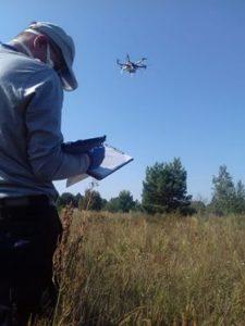 Использование БПЛА (гексакоптера) во время учений