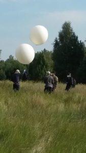 Визначення залежності потужності дози гамма-випромінювання від висоти з використанням балонів з гелієм /Determination of dependence of the gamma radiation dose rate on the height using the helium cylinders
