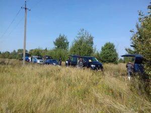 Движение колонны экипажей по маршрутам ЧЗО