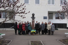 Taras Shevchenko monument near the School of the Arts