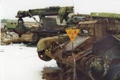 Burial ground Rassokha of the contaminated equipment
