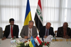 Signing of the Memorandum of Cooperation with the Iraqi Ministry of Science and Technology, June 2011