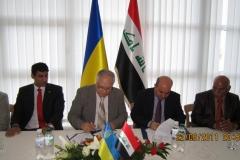 Подписание Меморандума о сотрудничестве с Министерством науки и технологий Ирака, июнь 2011 г.