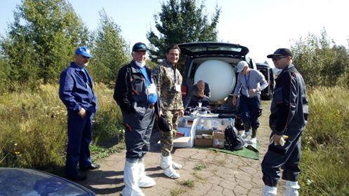 Підготовка до роботи БПЛА та балонів з гелієм/Preparation for work of UAV and helium cylinders